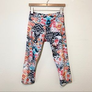 Onzie Tropical Print Workout Crop
